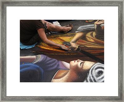 Sidewalk Art 3 Framed Print by Bob Christopher