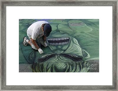 Sidewalk Art 4 Framed Print by Bob Christopher