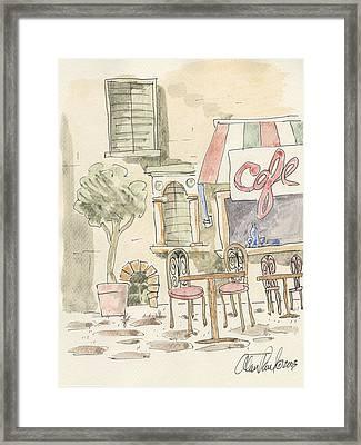 Sidewalk Cafe Framed Print by Alan Paul