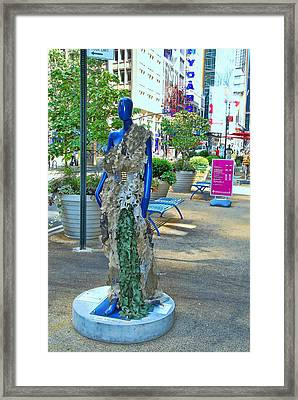 Sidewalk Catwalk 16 Framed Print by Allen Beatty