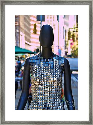 Sidewalk Catwalk 2 A Framed Print by Allen Beatty