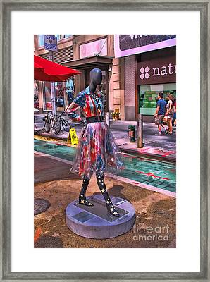 Sidewalk Catwalk 5 Framed Print by Allen Beatty