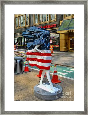 Sidewalk Catwalk 6 Framed Print by Allen Beatty