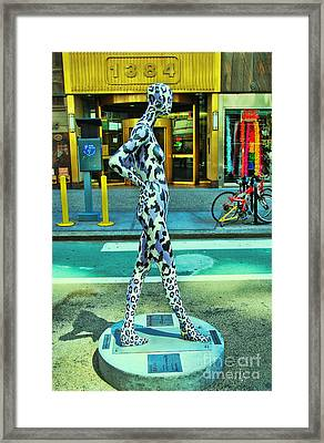 Sidewalk Catwalk 7 Framed Print by Allen Beatty