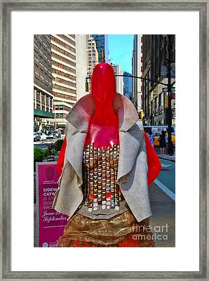 Sidewalk Catwalk 8 Framed Print by Allen Beatty