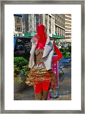 Sidewalk Catwalk 9 Framed Print by Allen Beatty