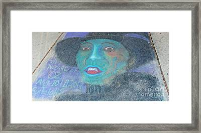 Framed Print featuring the photograph Sidewalk Halloween Contest by Janette Boyd