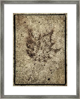 Sidewalk Imprint Framed Print