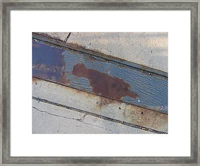 Sidewalk Metal Framed Print by Anita Burgermeister