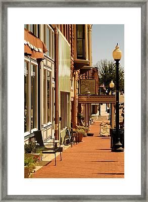 Sidewalk Framed Print by Roseann Errigo