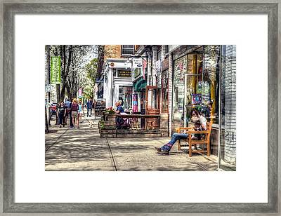 Sidewalk Scene - Great Barrington Framed Print