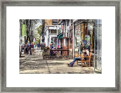 Sidewalk Scene - Great Barrington Framed Print