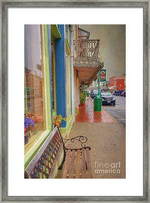 Sidewalk Shot Weston Missouri Framed Print by Liane Wright