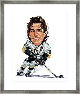 Sidney Crosby Framed Print by Art