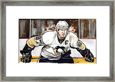 Sidney Crosby Framed Print by Dave Olsen