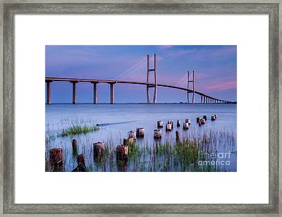 Sidney Lanier Bridge Brunswick Georgia Framed Print by Dawna  Moore Photography
