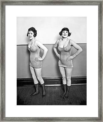 Sidney Lust Chorus Girls Framed Print by National Photo Company
