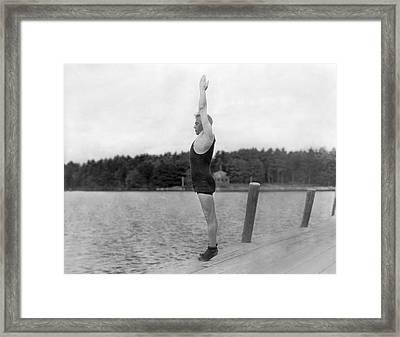 Sidney Olcott On A Dock Framed Print