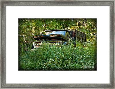 Framed Print featuring the photograph Sid's Old Truck by Lena Wilhite
