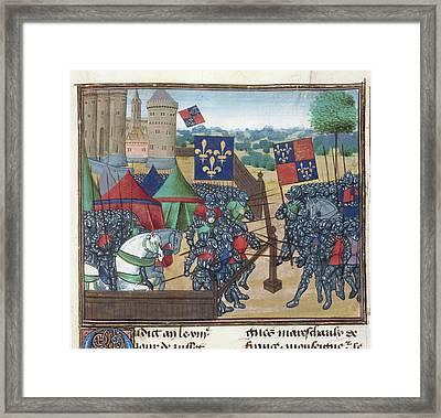 Siege Of Castillion Sur Dordogne Framed Print by British Library
