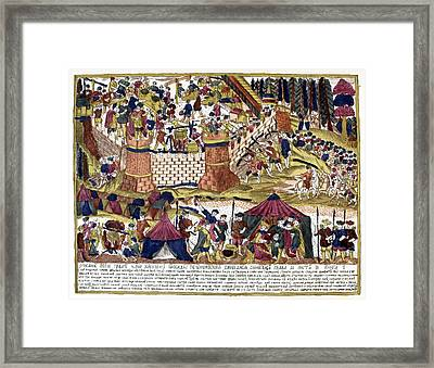 Siege Of Kiev, 10th Century Framed Print