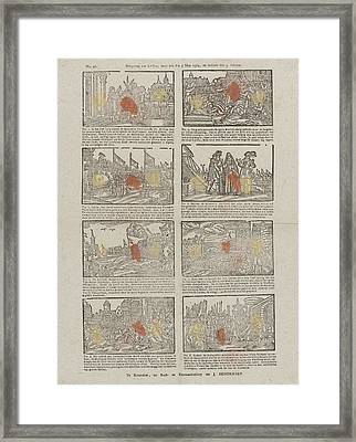 Siege Of Leiden The Netherlands Started The Fifth Mey 1574 Framed Print by Jan Hendriksen
