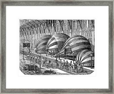 Siege Of Paris Balloon Factory Framed Print by Science Photo Library