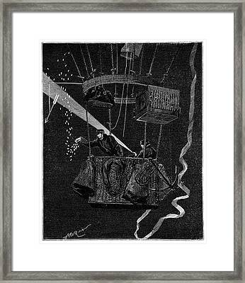 Siege Of Paris Night Balloon Framed Print by Science Photo Library