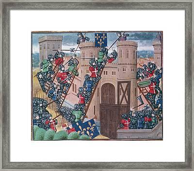 Siege Of Pontaudemer Framed Print