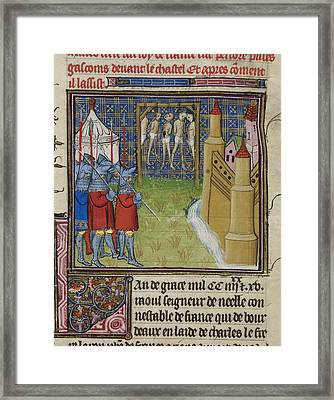Siege Of Rions Framed Print by British Library