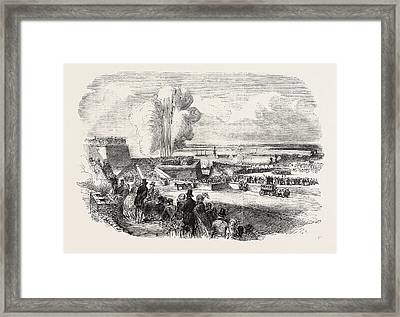 Siege Operations At Chatham Springing A Mine 1854 Framed Print
