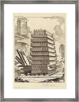 Siege Tower Framed Print