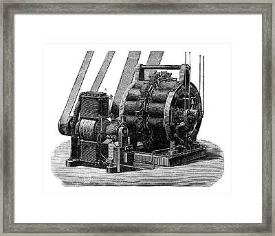 Siemens Dynamo Framed Print by Science Photo Library