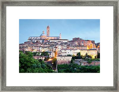Siena At Dusk Framed Print by Jorg Greuel