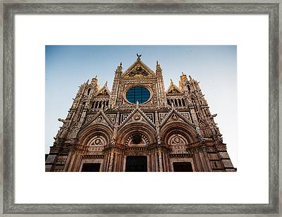 Siena Cathedral Of Saint Catherine Tuscany Italy Framed Print by Mathew Lodge
