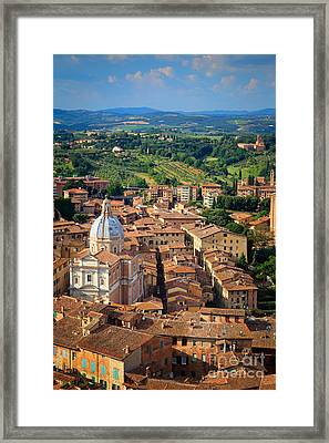 Siena From Above Framed Print by Inge Johnsson
