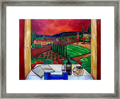 Siena Hillside Framed Print by Patti Schermerhorn
