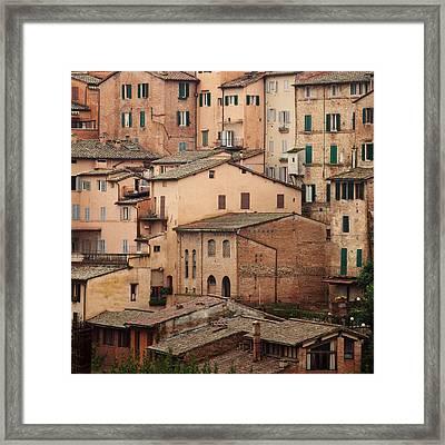 Siena Italy Framed Print by Kim Fearheiley