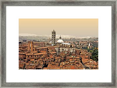 Siena Italy Rooftops Framed Print