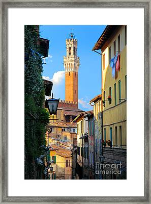 Siena Streets Framed Print by Inge Johnsson