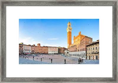 Siena Sunset Framed Print by JR Photography