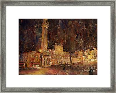 Siena Sunset Framed Print by Ryan Fox