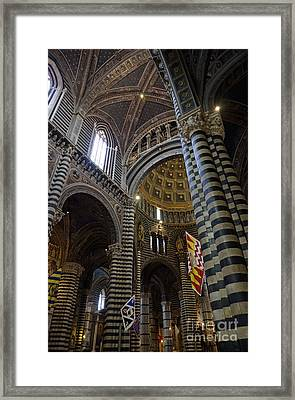 Siena's District Flags Inside Duomo Cathedral Framed Print