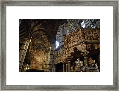 Siena's Duomo Cathedral Framed Print by Sami Sarkis