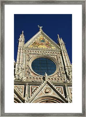 Sienna Cathedral Framed Print by Barbara Stellwagen
