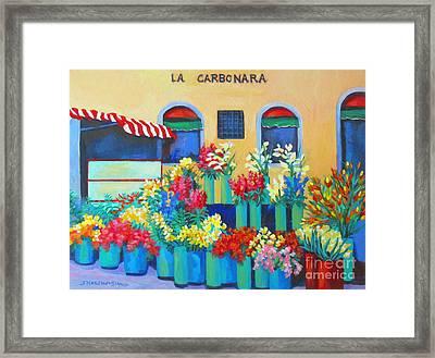 Sienna Flower Market Framed Print by Sharon Nelson-Bianco