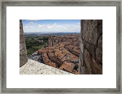 Siena From Above Framed Print by Al Hurley
