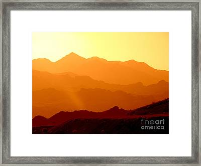 Sienna Layers Framed Print