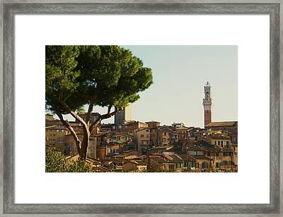 Sienna Skyline Framed Print by Barbara Stellwagen