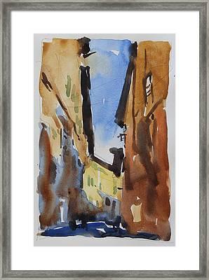 Sienna Street Framed Print by Owen Hunt